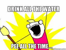 drink all the water