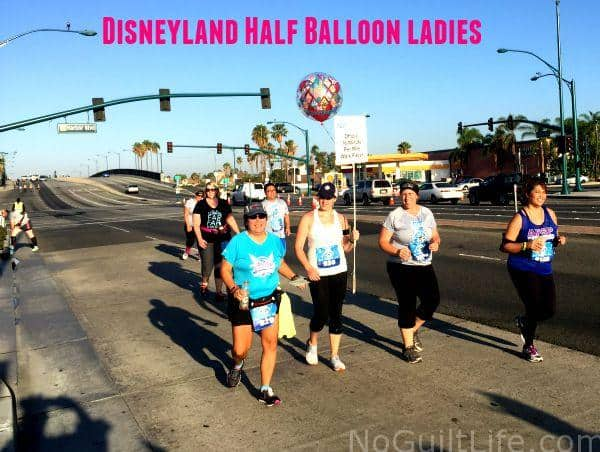 No, those balloons aren't costumes. They are part of the runDisney Balloon Lady equipment and signal that it;s time for runners to move. That means you, Princess! Check out some tips straight from the Balloon Ladies of Walt Disney World. Wine and Dine | Star Wars | Marathon | Goofy | Dopey