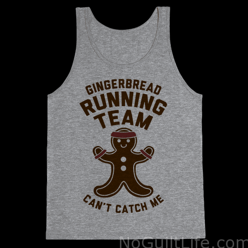 holiday workout: ways to keep you running through December gingerbread running shirt