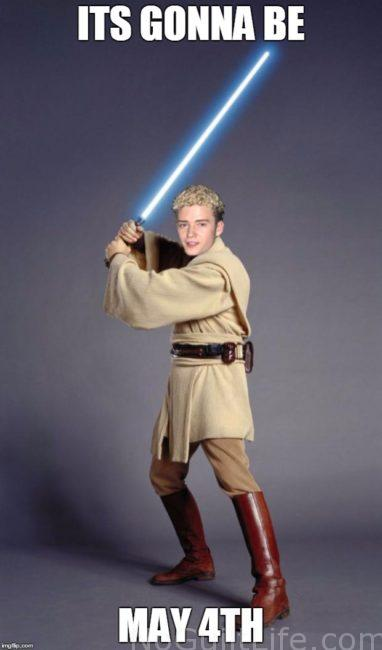 Star Wars It's gonna be may the 4th justin jedi