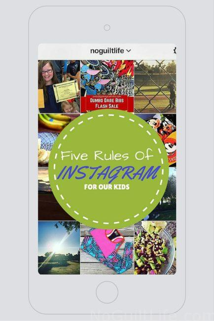 Five Rules of Instagram For Kids. Talking kids and Instagram rules for Mom Monday. Do your teens and tweens have guidelines to using social media? As in all things in life, mine sure do. Social media hacks for parents.