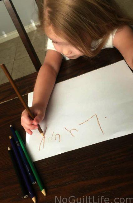 learning to write your name before kindergarten