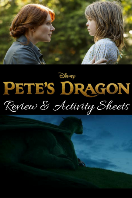 New family favorite: Pete's Dragon movie review and activity sheets. Movie opens Aug 12! Disney