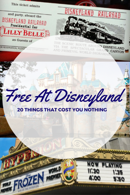 Looking for things that are free at Disneyland? How about 20 of them! Check this list of freebies you can score during your next visit at the Happiest Place on Earth. There's a bonus link to the Walt Disney World Resort freebies too!