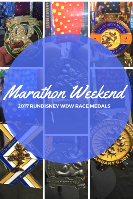 Walt Disney World marathon weekend medals by runDisney were shared at the Paris Half marathon!