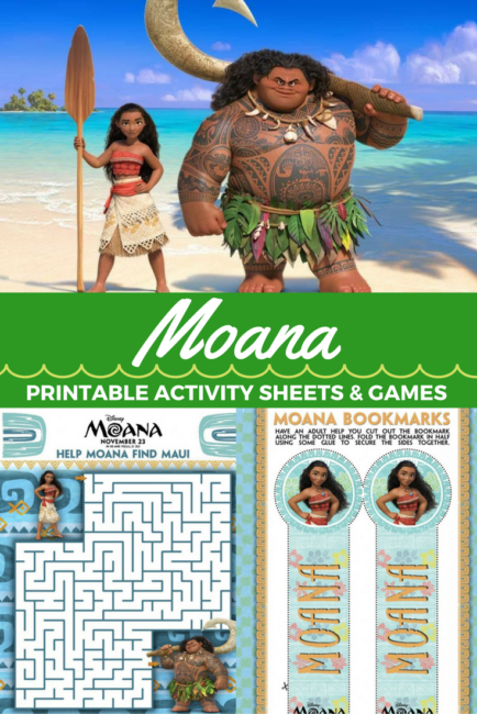 Moana movie activity sheets for the family. Poster | Maui | Disney | Printables matching game moana-printables