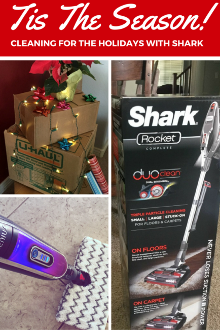 The holiday season is upon us! Be sure your home is holiday ready with cleaning appliances from Shark. The Rocket and Genius Hardwood system