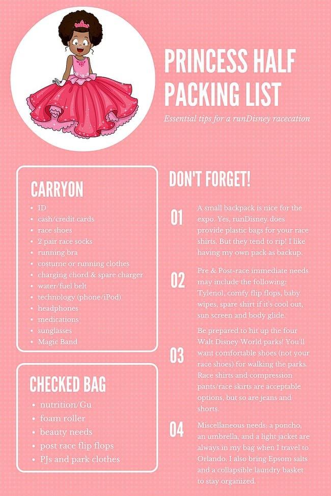 runDisney Princess Half Marathon Packing List: Don't forget the Tiara or Tutu! Walt Disney World Travel