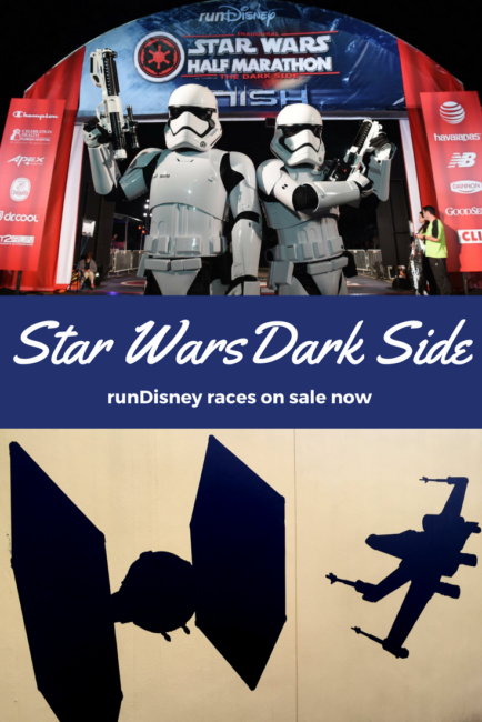 rundisney Dark Side race weekend on sale now. Walt Disney World: the dark side is calling!