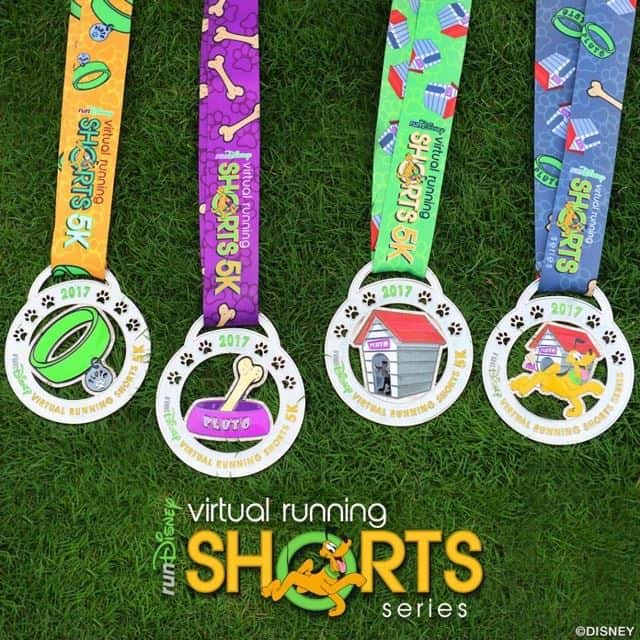 rundisney virtual medals for 2017 are Pluto themed