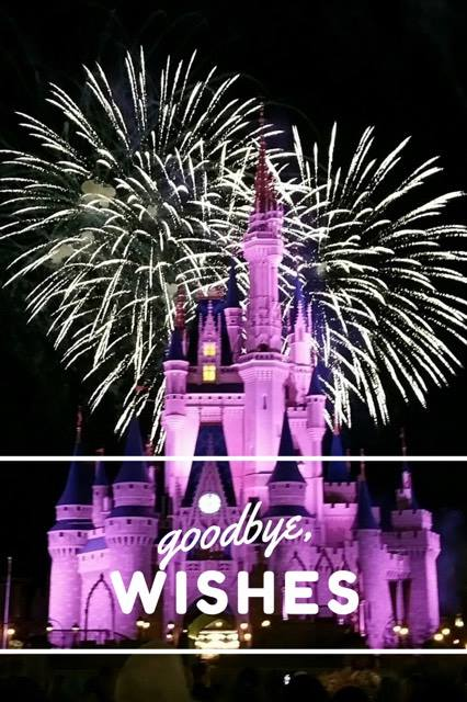 Saying goodbye to Wishes fireworks at Disney World