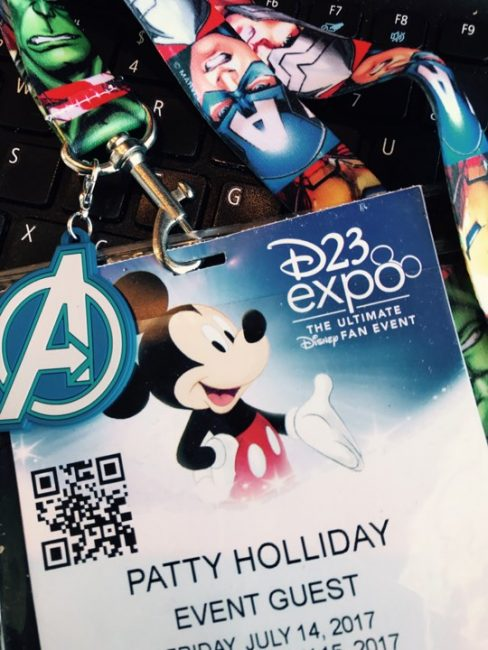 D23 Expo Badge from 2017 event