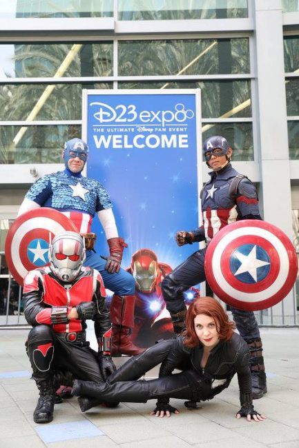 D23 Expo Marvel Cosplayers: Captain America, Ant-Man and Black Widow