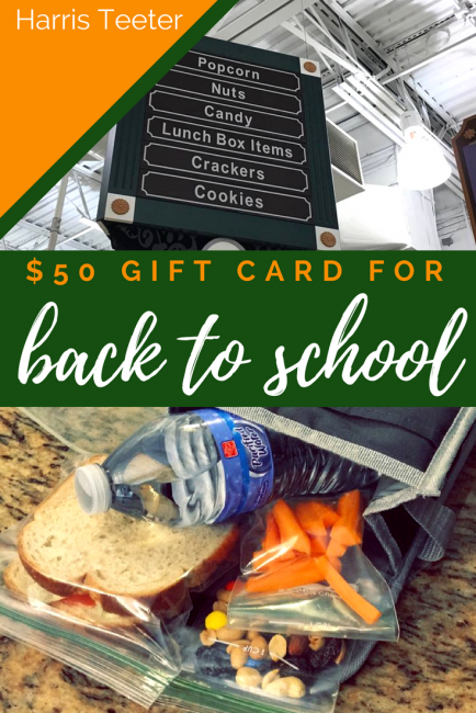 Back to school with $50 Harris Teeter gift card giveaway #ad