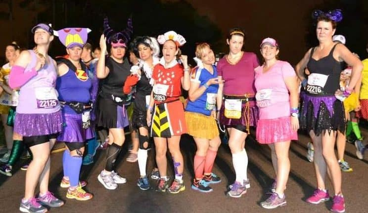 princess half marathon runners dressed in costume