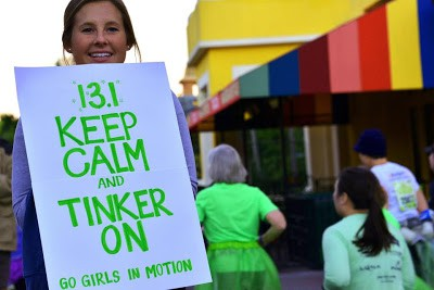 Tinker Bell Half Marathon Sign