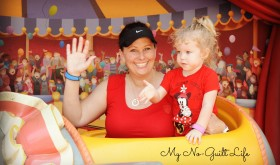 Disney world with toddlers on dumbo ride