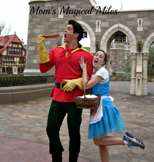 Gaston on the runDisney course