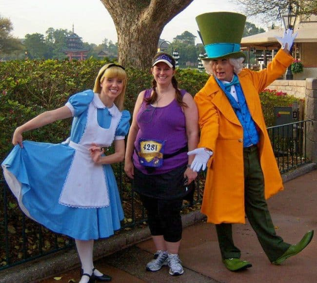 rundisney princess 5K characters Alice and Mad Hatter