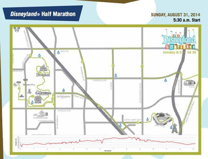 Disneyland Half Course 2014