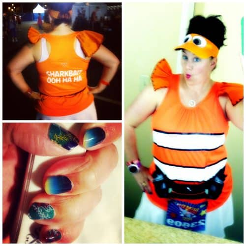 nemo running costume collage