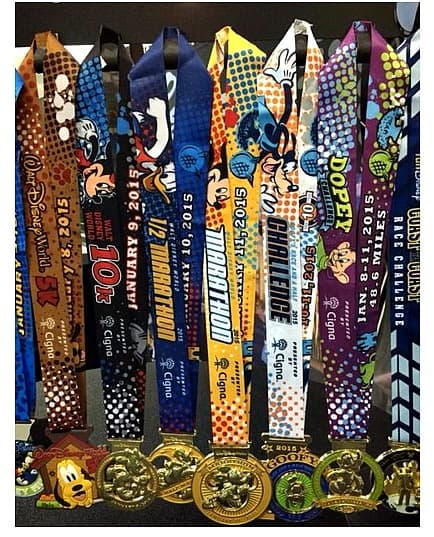 Walt Disney World Marathon Medals 2015