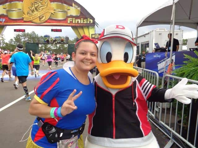 Walt Disney World Half marathon characers runDisney Donald Duck