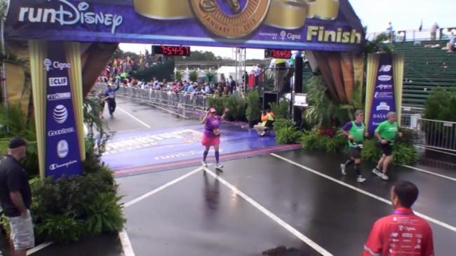 Julie finish marathon 2015