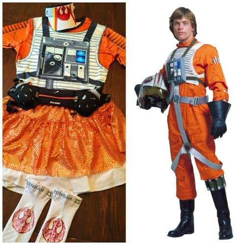 rebel pilot star wars running costume