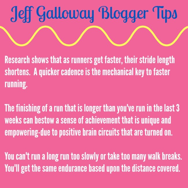 As an inaugural member of the Jeff Galloway Blogger program (fist pump!) I'll be sharing a lot of Jeff's tips and training information for you.? Here's the first installment from Jeff where you can learn more about the run/walk/run technique he perfected!