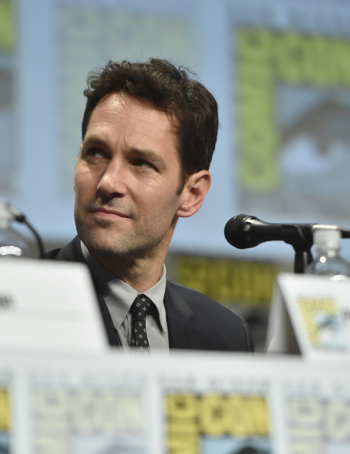 "SAN DIEGO, CA - JULY 26: Actor Paul Rudd onstage at Marvel's Hall H Panel for ""Ant-Man"" during Comic-Con International 2014 at San Diego Convention Center on July 26, 2014 in San Diego, California. (Photo by Alberto E. Rodriguez/Getty Images for Disney)"