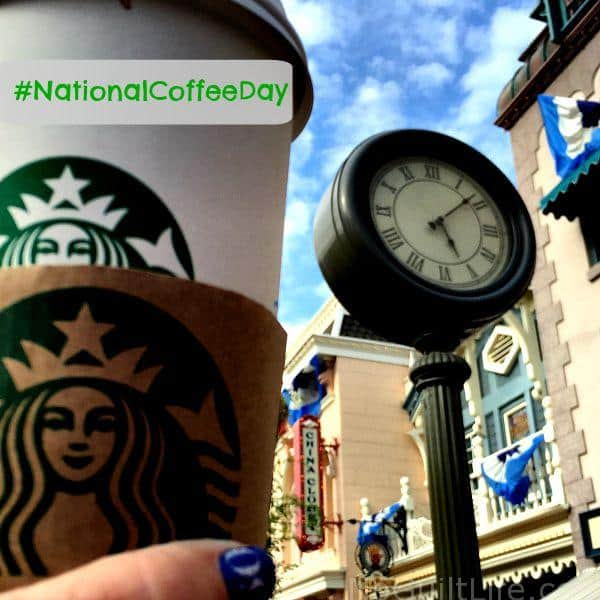 National Coffee Day 2018 Starbucks cup at Disneyland