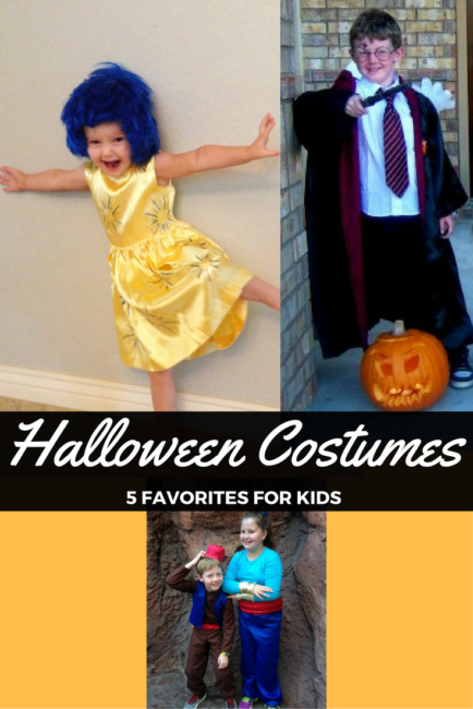 Halloween costume ideas for kids- okay, and there's one in there for adults too! Perfect low key costumes for any party or Disney event you may be heading to this season!