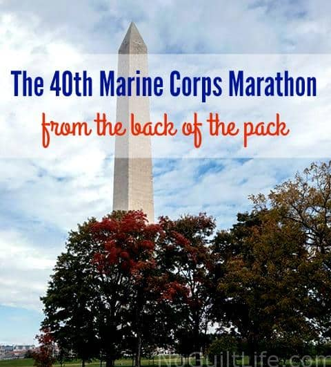 A Marine Corps Marathon story from the back of the pack runner.