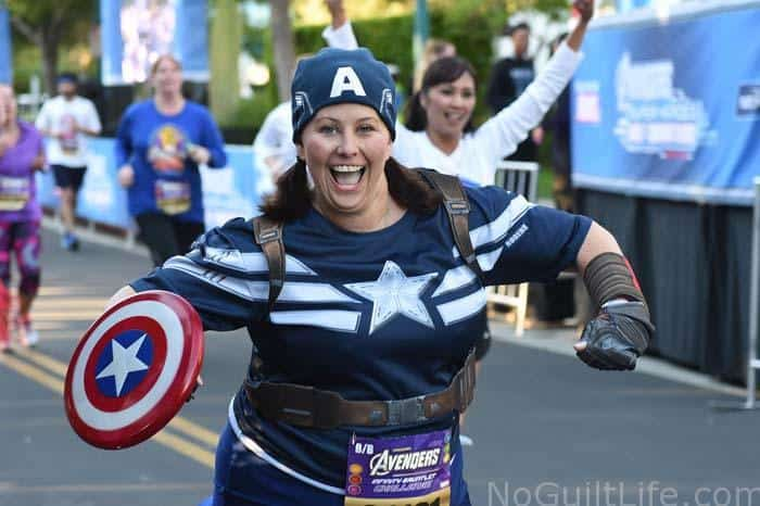 Captain America running costume