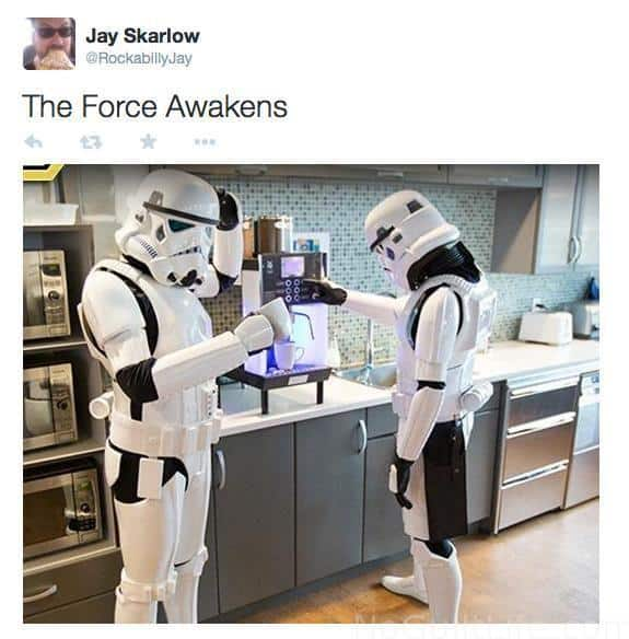 The Force Awakens now! Star Wars is coming this weekend; get in the mood with these funny Monday Memes