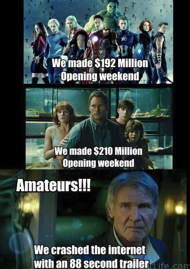 I love to laugh. I love Star Wars. Why not have both? Funny Monday Memes   Star Wars The Force Awakens - My No-Guilt Life   My No-Guilt Life