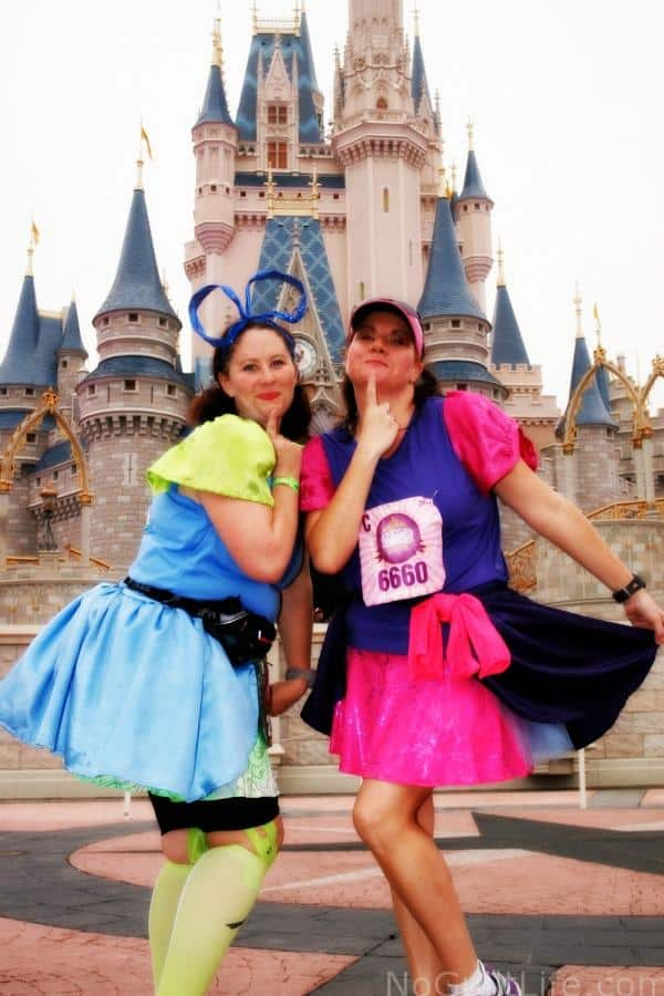 Princess Half Marathon step sisters running costume