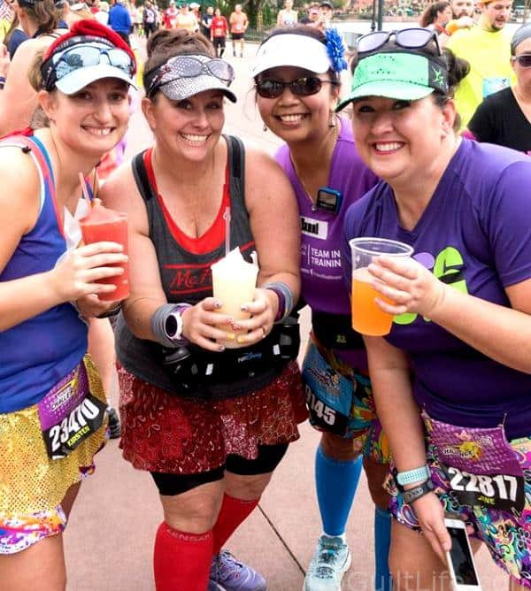 Margarita at the runDisney marathon