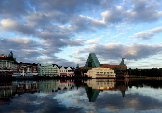 Boardwalk Resort Dance Hall at sunrise Sea Side Disney World fun runs