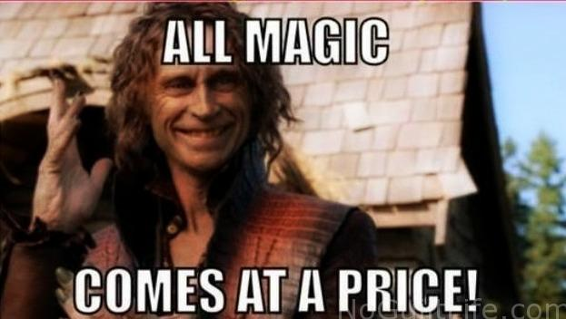 all magic comes at a price meme