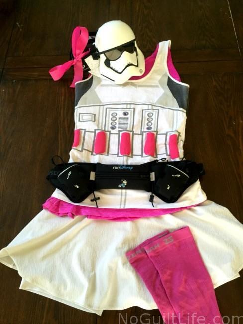 Pink Stormtrooper running costume