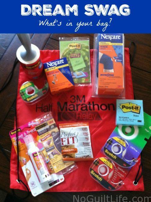 swag bag runners 3m half marathon