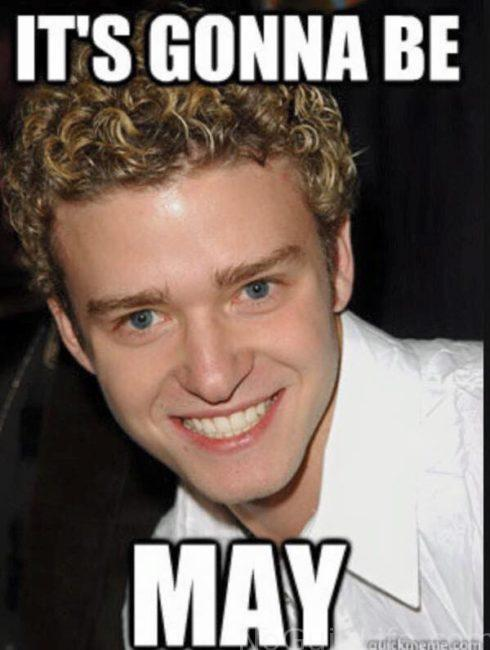 Gonna be may monday meme justin timberlake