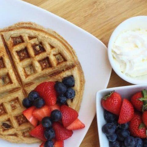 Banana Protein Recovery Waffle Recipe