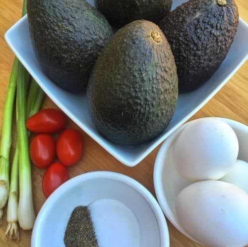 eggs and avocados for keto recipe