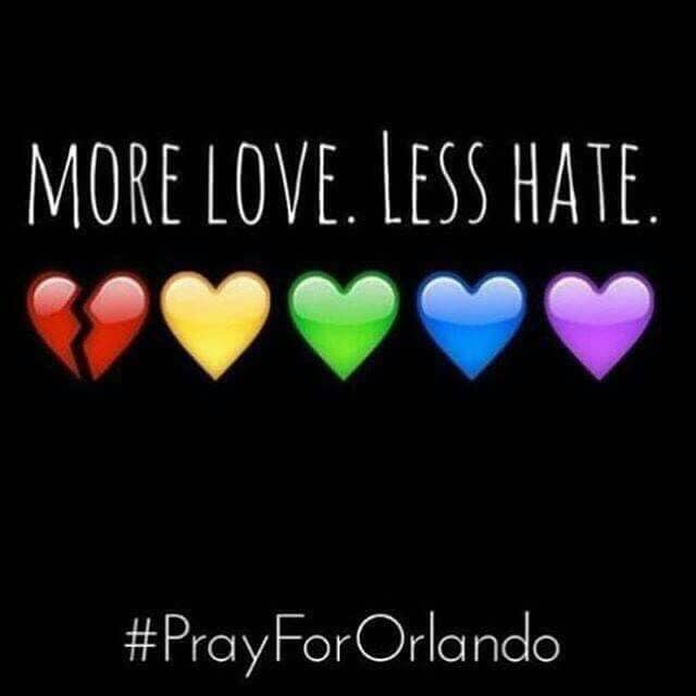 After the tragedies in Orlando this week, I felt the need to say a few things. Mostly: I'm sorry. The community is rocked and needs love. All of us need love.