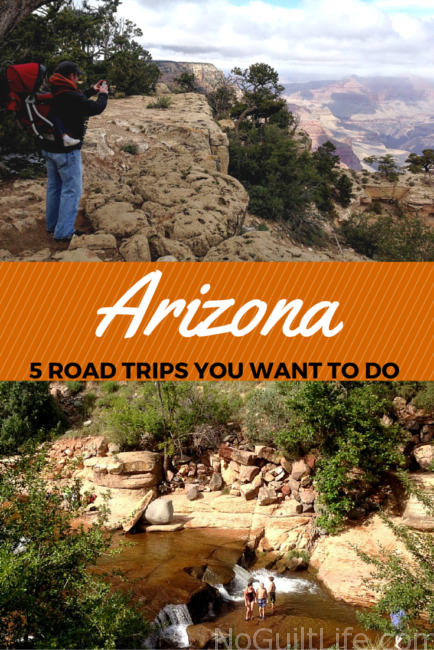 Summertime is road trip time for my family! We love to hit the road and discover new places. Here are 5 great Arizona road trip ideas for you! Travel | National Parks | State Parks | Tucson | Phoenix | Route 66