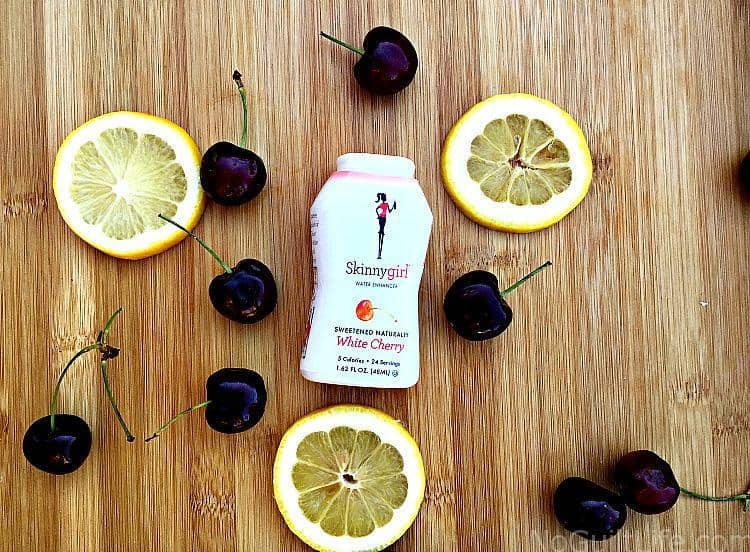 """Look here, Skinnygirl bartenders! I've got a recipe for White Cherry Spritzers. This is a Skinnygirl inspired cocktail to celebrate back to school. (Wut. It's a big deal around here!) The alcohol brand started by former """"Real Housewife of New York"""" Bethenny Frankel, has a guilt-free line of snacks including chocolates, sparkling water, teas and mints."""