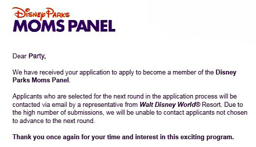 Candid thoughts on the Disney Parks Moms Panel Application Process
